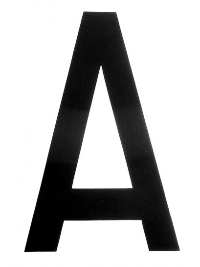 A - REGISTRATION LETTERS 4 INCH