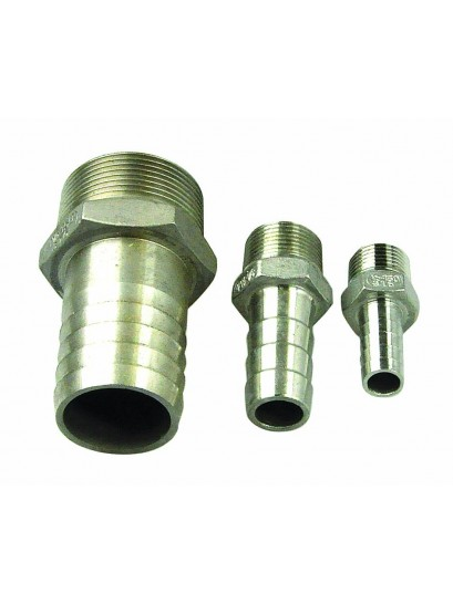 3090 Hose Tails - Stainless Steel - Male Thread