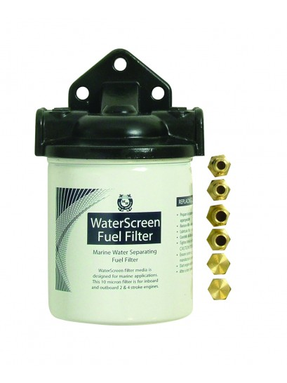 WATERSCREEN FUEL FILTER ASSY OMC SPIN O
