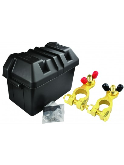 BATTERY BOX KIT WITH BRASS BATTERY TERMINALS