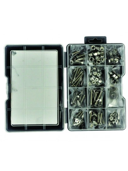 FASTENING KIT STAINLESS STEEL - METAL THREADS - COUNTERSUNK 185 PIECE