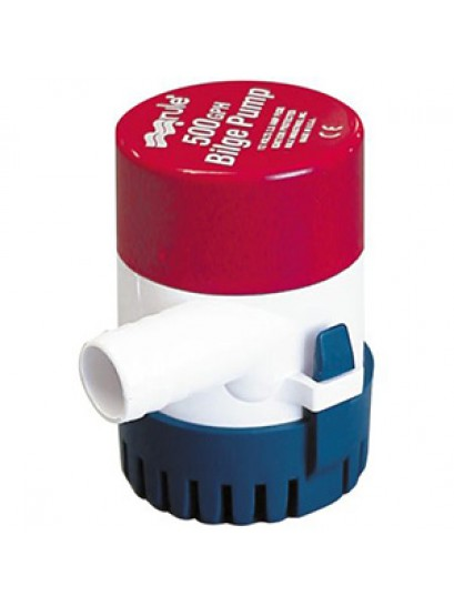 "Rule 500 GPH Bilge Pump Model 25D with 3/4"" Removable barb outlet"