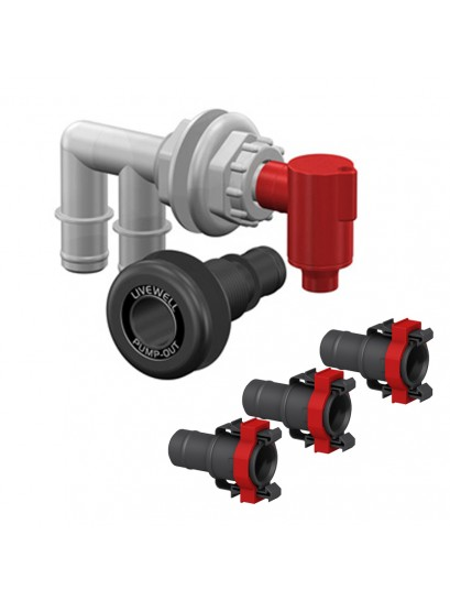 PUMP OUT AERATOR KIT WITH Thru Hull Fitting