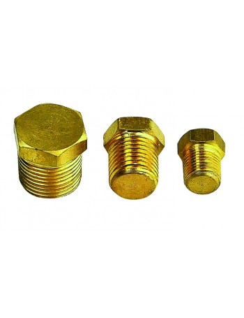 BRASS HEX TAPER PLUG
