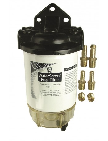 "WATERSCREEN 1/4"" INLINE FUEL FILTER"