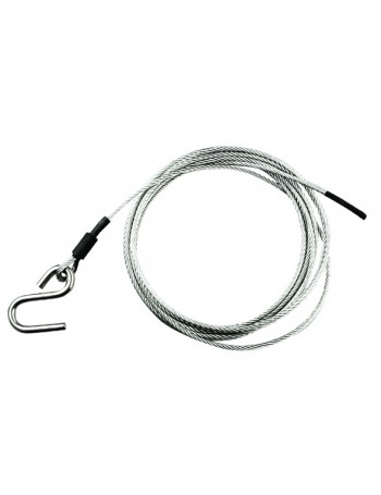 WINCH CABLE 4MM X 5.4M + S HOOK (10MM)