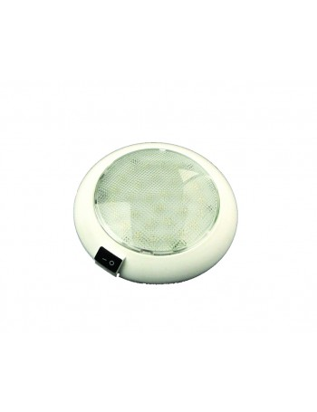 INTERIOR DOME LED LIGHT WHITE PLASTIC