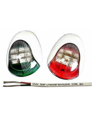 LED Navigation Lights with 2mm Twin Sheathed Wire