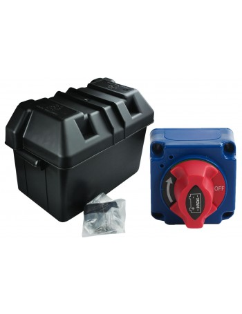 BATTERY BOX KIT WITH 2 POSTITION MASTER SWITCH