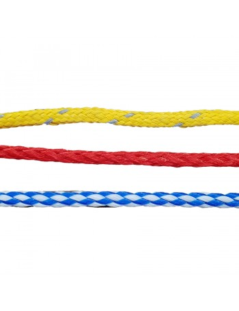 DOUBLE BRAID ROPE - 4MM - BLU & WHITE