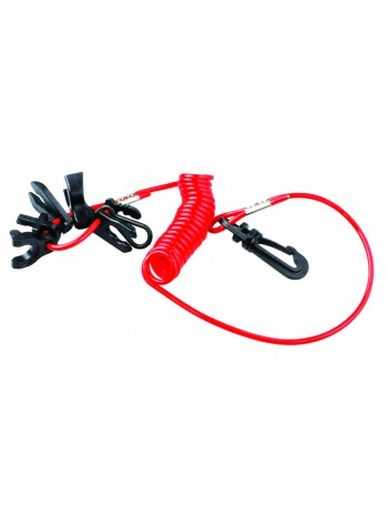 OUTBOARD MOTOR SAFETY LANYARD WITH 7 KEY