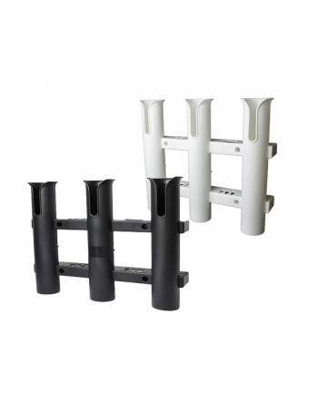 Triple Rod Holder Rack Black & White  - With tool storage