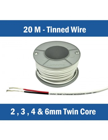 TWIN CORE TINNED WIRE - 20M CUTS