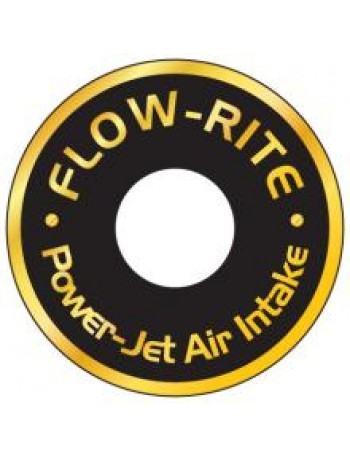 Power Jet Air Intake Mounting Plate Decals, Single, Gold Lettering