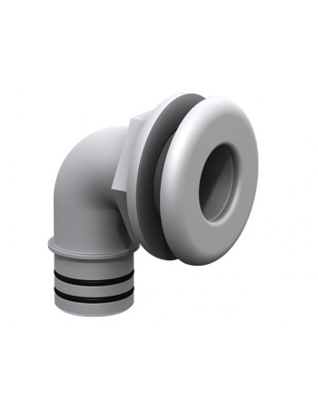 Qwik-Lok Elbow Thru-Hull - White 28mm